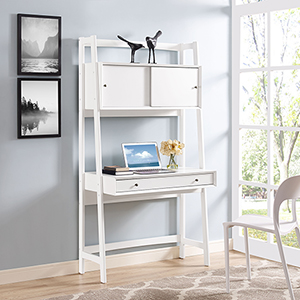Landon Wall Desk in White