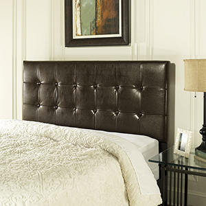 Andover King or Cal King Headboard in Brown Leatherette