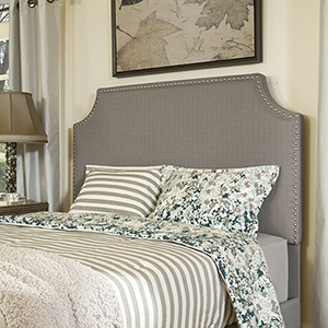 Brooks King or Cal King Headboard in Shadow Gray Linen