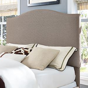 Bellingham Camelback Upholstered Full or Queen Headboard in Oatmeal Linen