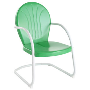 Griffith Metal Chair in Grasshopper Green Finish
