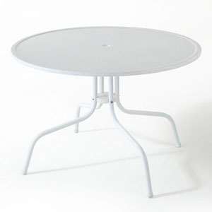 Griffith Metal 25-Inch Wide Dining Table in White Finish