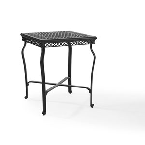Portofino Black Cast Aluminum Bar Height Bistro Table