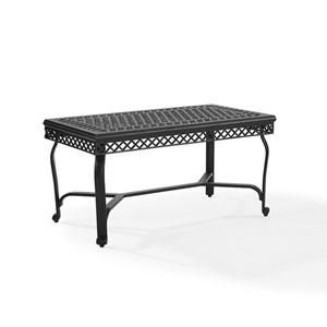 Portofino Black Cast Aluminum Coffee Table