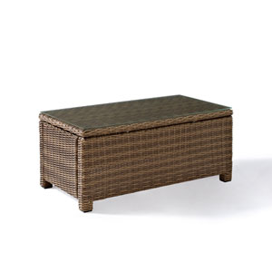 Bradenton Outdoor Wicker Glass Top Conversation Table