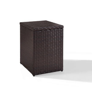 Palm Harbor Brown Outdoor Wicker Rectangular Side Table