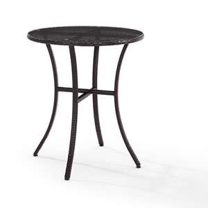 Palm Harbor Brown Outdoor Wicker Bistro Table