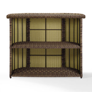 Bradenton Brown Outdoor Wicker Bar