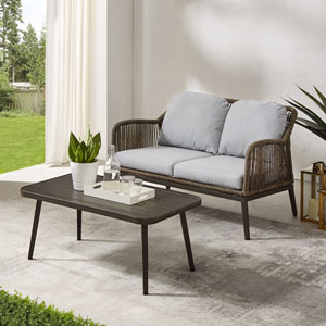 Haven Two-Piece Outdoor Wicker Conversation Set