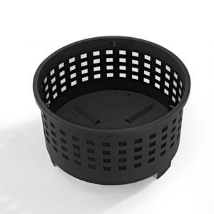Hudson Black Basket Weave Firepit