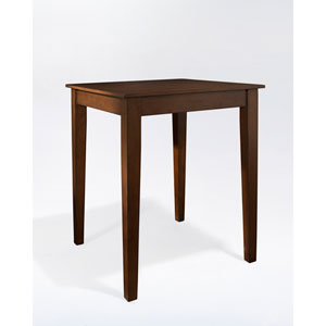 Tapered Leg Pub Table in Vintage Mahogany Finish