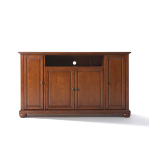 Alexandria 60-Inch TV Stand in Classic Cherry Finish
