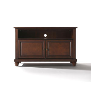 Cambridge 42-Inch TV Stand in Vintage Mahogany Finish