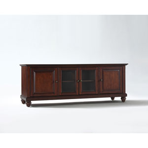 Cambridge 60-Inch Low Profile TV Stand in Vintage Mahogany Finish