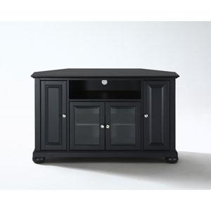 Alexandria 48-Inch Corner TV Stand in Black Finish