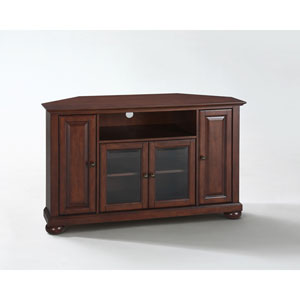 Alexandria 48-Inch Corner TV Stand in Vintage Mahogany Finish