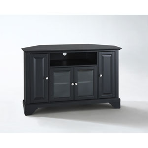 LaFayette 48-Inch Corner TV Stand in Black Finish