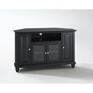 Cambridge 48-Inch Corner TV Stand in Black Finish