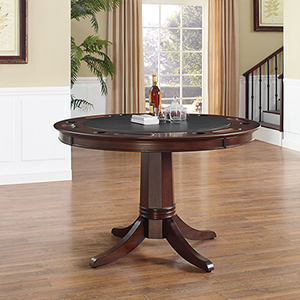 Reynolds Game Table in Rustic Mahogany