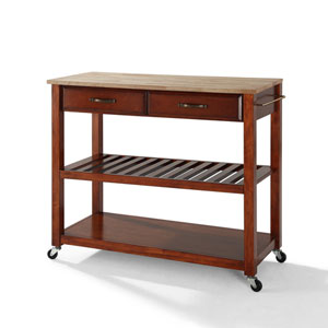 Shop Wood Kitchen Island With Trash Bin Bellacor