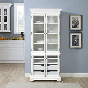 Alexandria Kitchen Pantry in White Finish