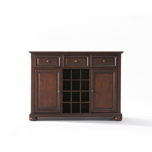 Alexandria Buffet Server / Sideboard Cabinet with Wine Storage in Vintage Mahogany Finish