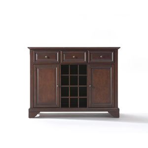 LaFayette Buffet Server / Sideboard Cabinet with Wine Storage in Vintage Mahogany Finish