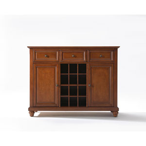 Cambridge Buffet Server / Sideboard Cabinet with Wine Storage in Classic Cherry Finish