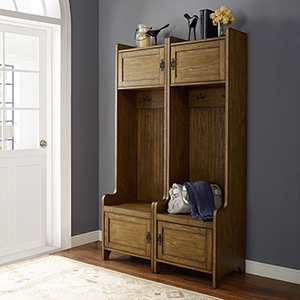 Fremont 2 Piece Entryway Kit - Two Towers in Coffee