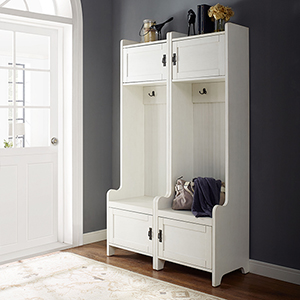 Fremont 2 Piece Entryway Kit - Two Towers in Distressed White