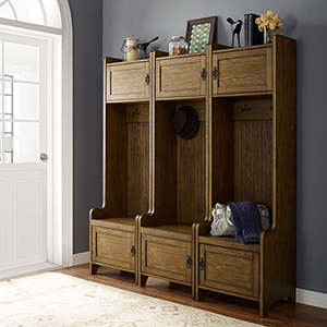 Fremont 3 Piece Entryway Kit - Three Towers in Coffee