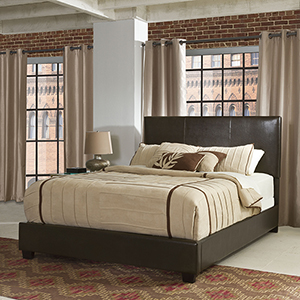 Drake Queen Bedset in Brown Leatherette