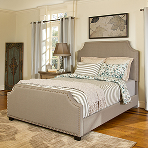 Brooks Queen Bedset in Shadow Gray Linen