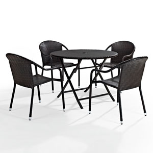 Palm Harbor Brown Five Piece Outdoor Cafe Dining Set