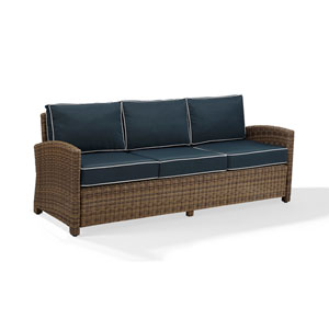 Bradenton Sofa with Navy Cushions