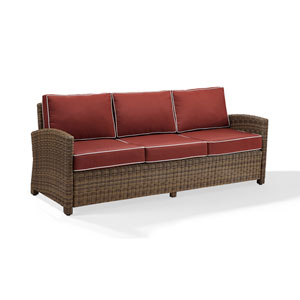 Bradenton Sofa with Sangria Cushions