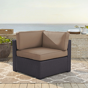Biscayne Corner Chair With Mocha Cushions