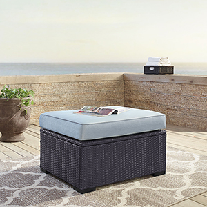 Biscayne Ottoman With Mist Cushions