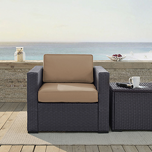 Biscayne Armchair With Mocha Cushions