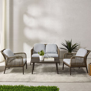 Haven Four-Piece Outdoor Wicker Conversation Set