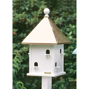 Lazy Hill Square Birdhouse with Copper Roof