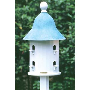 Lazy Hill Bell Birdhouse with Verdi Roof