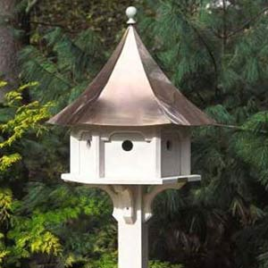Lazy Hill Carousel Birdhouse with Copper Roof