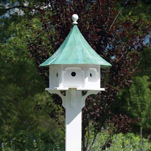 Lazy Hill Carousel Birdhouse with Verdi Roof