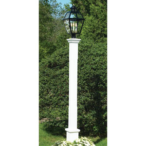 Barrington White 104-Inch Lantern Post