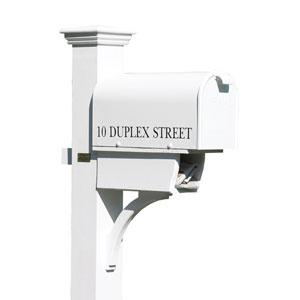 White Bristol Mailbox