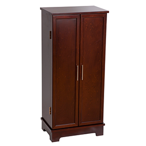 Dark Walnut Lynwood Jewelry Armoire