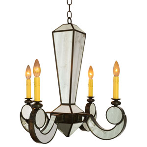 Chantilly Bronze Four-Light Chandelier