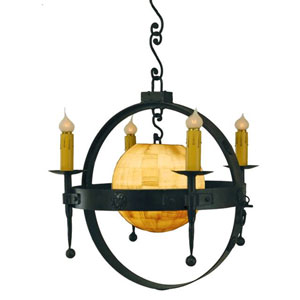 Solare Bronze Five-Light Chandelier