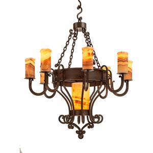 Trevi Bronze Nine-Light Chandelier